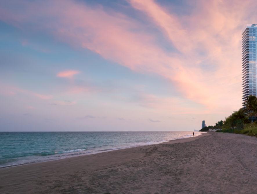 EXT16 beach sunset Background