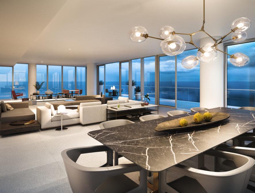 INT05 Living Room Full Residence sunset