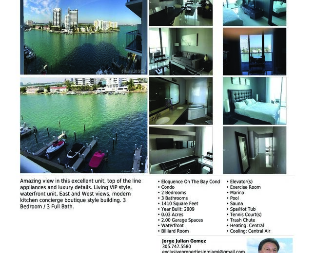 Venta de apartamento de lujo-Eloquence en North Bay Village.